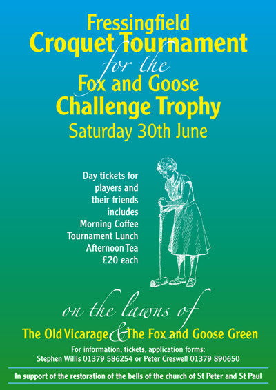 Poster to advertise Croquet Tournament