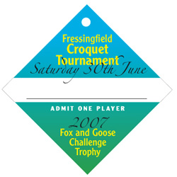 Croquet Tournament swing ticket player